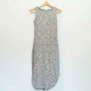 BAR III Long Maxi Tank Sweater Dress Gray l